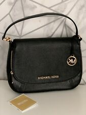 Michael Kors BEDFORD Black Satchel Crossbody Leather Shoulder Bag