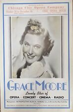 Grace Moore opera soprano giant Chicago City Opera Company poster 1939