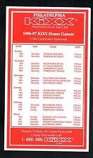 Philadelphia Kixx--1996-97 Home Schedule--NPSL