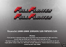 SUZUKI 1986-1988 SP200 SP125 DR200 DR125 FULL FLOATER