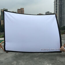 """120"""" 4:3 Good Price Reviews Portable 3D DLP HD Home Projector Screen for Sale"""