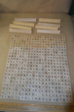 441 Lot Wooden Scrabble Craft Scrapbooking Tiles Replacement Piece Jewelry #1842