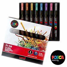 Uniball Posca PC-5M Paint Art Marker - Metallic Set of 8 - In Gift Box