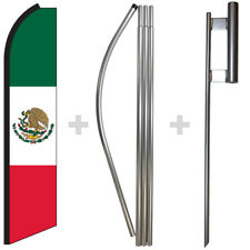 Mexico 15 Tall Swooper Flag Amp Pole Kit Feather Super Banner
