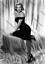 Vintage A4 Movie Photo Poster Wall Art Print of Marilyn Monroe in Black Dress