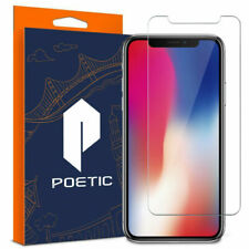 Poetic Full Coverage Tempered Glass Screen Protector for Apple iPhone X Clear
