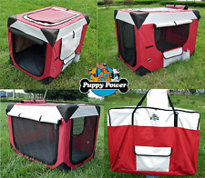 PUPPY POWER PORTABLE PET HOME, COLLAPSIBLE DOG KENNEL, SOFT CRATE- GIANT 122CM