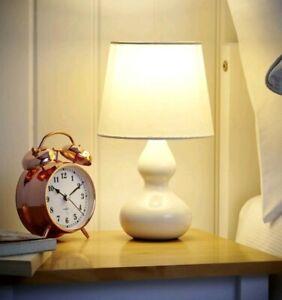 28cm Beige Shade Ceramic Table Lamp Small Desk Light Home Dine Decor KIDS ROOM L