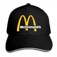 Traveleat Mcdonalds 90s Logo Snapback Baseball Hat Adjustable Cap