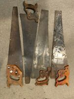 Vintage Collectible Handsaws Lot Of 4 ~ Disston  ~ Pennsylvania Saw E423