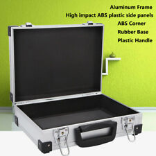Silver Professional Aluminum Hard Hand Gun Cases Home Tool Box with Quick Locks