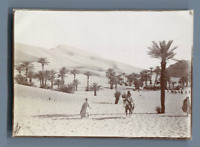 Algérie, Entrée du col de Taghit  Vintage citrate print. تاغيت  Tirage citrate