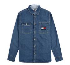 TOMMY JEANS Denim Badge Shirt - Regular Fit For Men