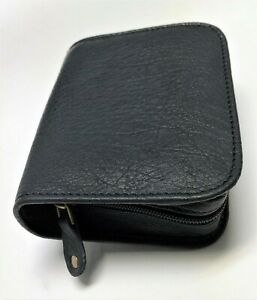 CLOSEOUT - Diabetic Glucometer / Glucose meter - Quality leather case - Black