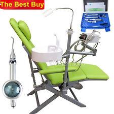 Dental Portable Folding Chair w/Turbine+ High &Low Speed Handpiece+Air Polisher