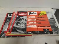 "Vintage ""TRAINS"" THE MAGAZINE OF RAILROADING- 1955- Lot of 10 Issues"