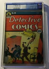"""Detective Comics #39 - 2nd appearance of Robin CGC 1940 6.0 """"GOLDEN AGE"""""""