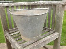 "Vintage Galvanised Small  Bucket  Beldray Original 9.5"" high x 12"" Diameter"