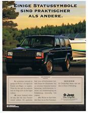 Jeep Cherokee Limited.  Original-Werbeanzeige 1993. Reklame Werbung.