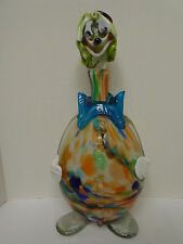 Vintage Large  Murano Hand Blown  Glass Clown Decanter