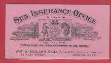 Sun Insurance Office London illustrated  Ink Blotter Canada