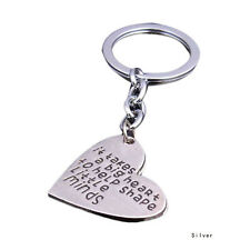 'It Takes A Big Heart To Shape Little Minds' Keyring Keychain TEACHER Presents
