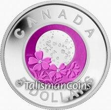 Canada 2012 Native American Niobium Full Moons #4 Pink Moon w/ Phlox BiMetallic