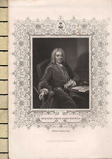C1830 stampa Georgiano ~ Horatio Walpole primo Lord
