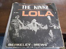 THE KINKS Lola ISRAEL ISRAELI HATAKLIT P/S