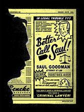 Breaking Bad Gifs Better Call Saul Chris DeLorenzo Signed Numbered Poster Print