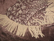"""ELEGENT MODERN  SUBDUED LEOPARD THROW IN BROWN AND GRAY 72"""" X 54"""""""