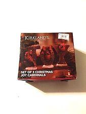 KIRKLAND'S SET OF 3 CHRISTMAS CARDINALS