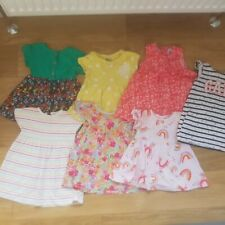 Bluezoo Baby Girls Pink Fairytale Unicorn Printed Cotton DressSize 6-9 Months