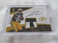 2017 Immaculate FB #121 Jamaal Williams Packers LETTER RELIC AUTO RC #99/99 !!