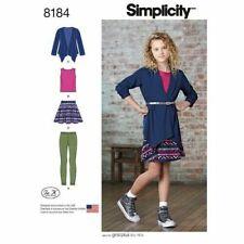 SIMPLICITY Sewing Patterns~8184 Girls Skirt+Top+Cardigan+Leggings  8½-16½