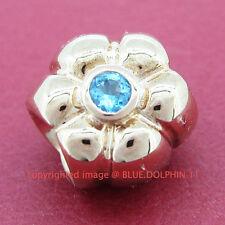 Real Solid 9k Rose Gold Natural Topaz Bead Charm fits European Bracelet Necklace