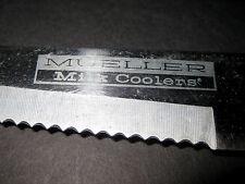 "1970s Mueller Milk Coolers Dairy Supply Advertising Knife 8"" Blade Wooden Handle"
