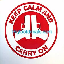 Gun Decal Keep Calm and Carry On Magazine Bullets Ammo  Car Truck Window Decal