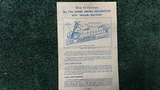 LIONEL # 746 SMOKE LOCOMOTIVES WITH MAGNE-TRACTION INSTRUCTIONS PHOTOCOPY
