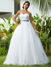 Embroidery Tulle Sleeve Wedding Dresses