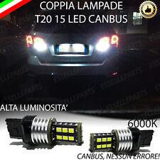 COPPIA LAMPADE RETROMARCIA 15 LED T20 CANBUS FIAT FREEMONT 6000K NO AVARIA LUCI