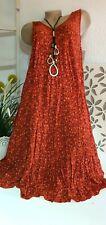 Damenkleid Hängerkleid Tunikakleid Modell Tanja kleine Blumen Free 46 48 Rot