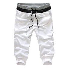 Fashion Mens Sports Sweatpants Joggers Gym Slacks 3/4 Knee Shorts Pants Trousers
