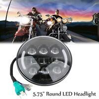 """5 3/4 (5.75 """") Noir LED Phare avant Pour Harley Davidson Sportster Dyna"""