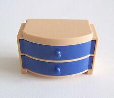 PLAYMOBIL (R203) MAISON MODERNE - Commode 2 Tiroirs Bleu Salon 3966