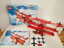 Lego Red Baron 10024 w/ Instructions Never Applied Stickers & Original Box! 100%