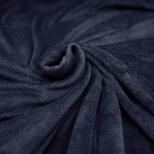 Stoff Meterware Wellness Fleece marine blau kuschelweich neu Kuschelfleece navy