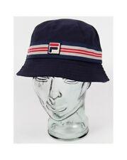 Fila Vintage Casper Bucket Hat in Navy Blue - festival hat, sun hat, 80s casual