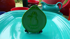 FIESTA WARE CHRISTMAS ORNAMENT SHAMROCK GREEN 2013 kitty CAT