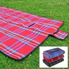 Waterproof Portable Picnic Blanket Mat Camping Beach Festival PVC 110 x 140cm